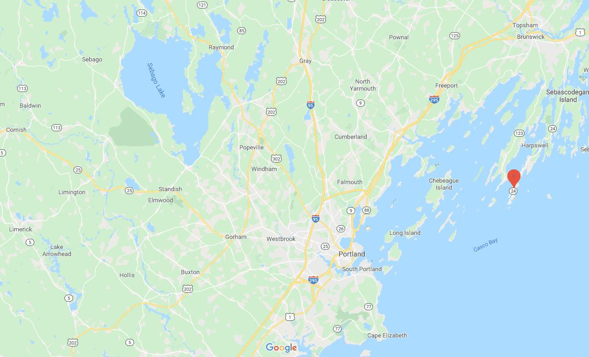 Bailey Island on Google Map