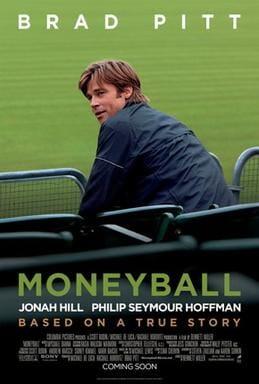 Moneyball movie poster with Brad Pitt