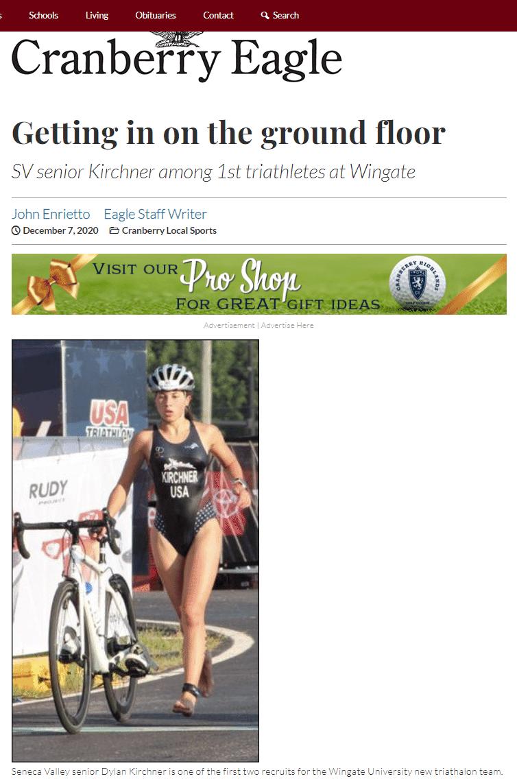 News of Triathlete