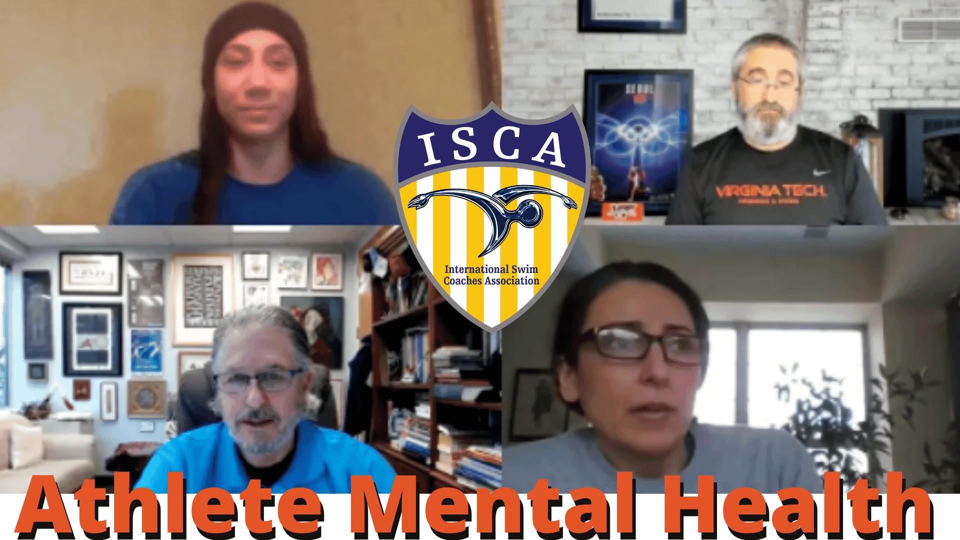 Athlete Mental Health splash screen for webinar