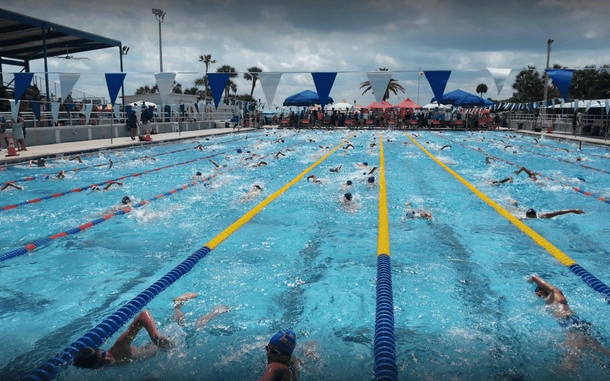 Full pool in 50-meter format at St. Pete
