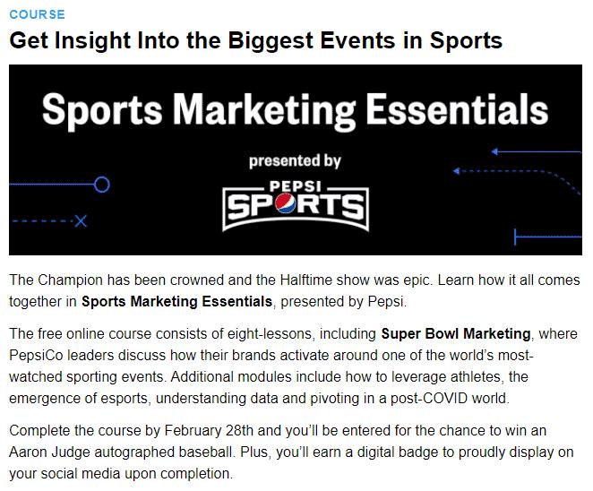 Sports Marketing Essentials, splash