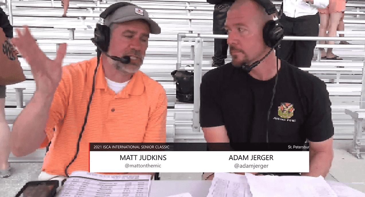 Matt Judkins and Adam Jerger, FloSwimming Broadcasters