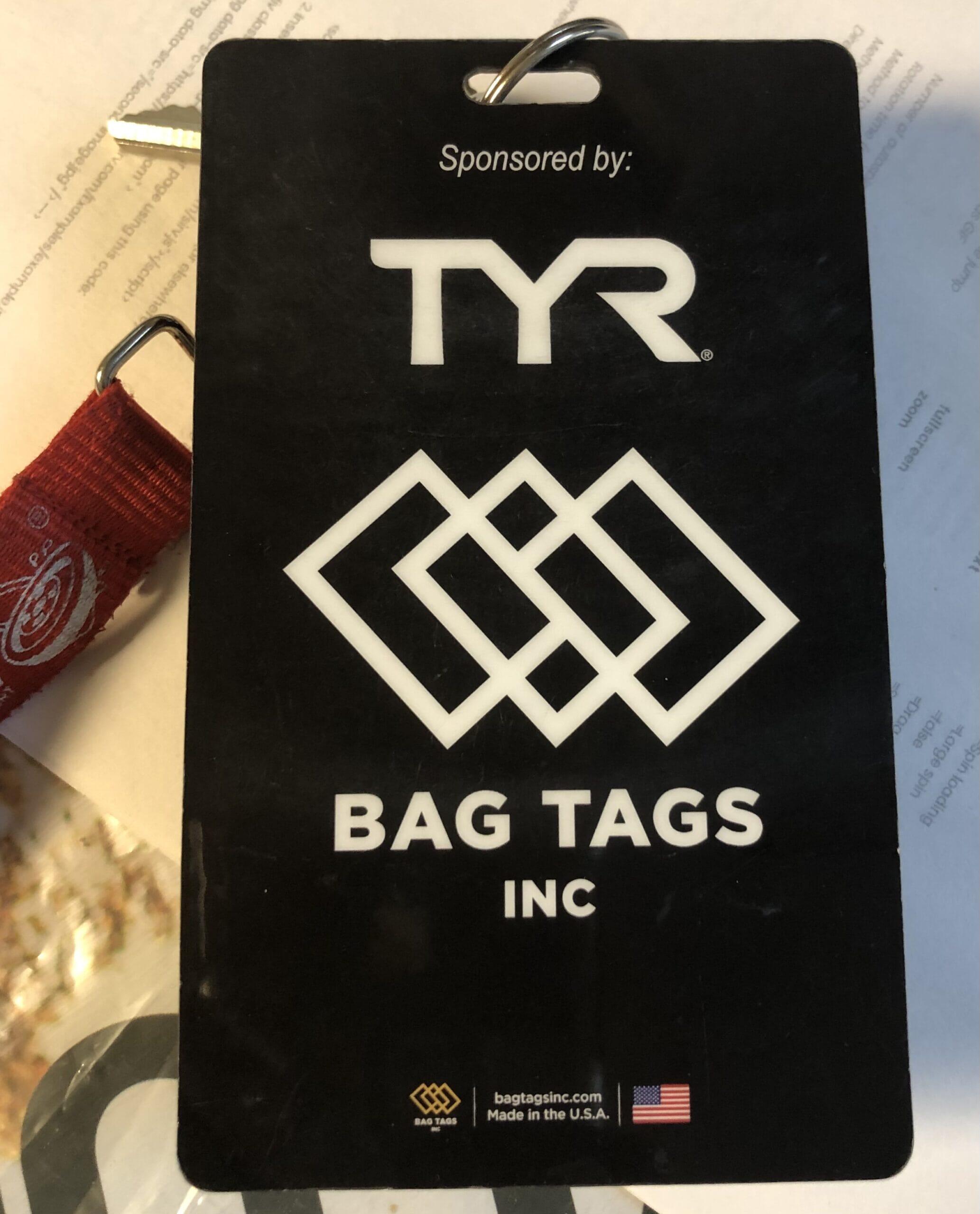 back of bag tag